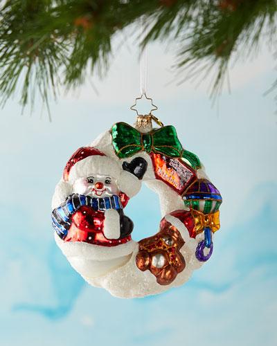 What Wonders Await Wreath Christmas Ornament