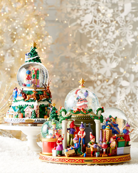 Christmas Is Coming Musical Snowglobe