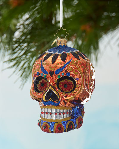 Colorful Calavera Christmas Ornament
