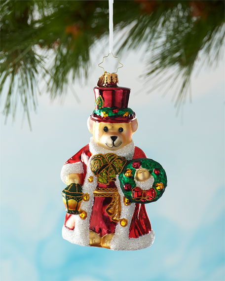 Christopher Radko A Beary Good Guide Christmas Ornament
