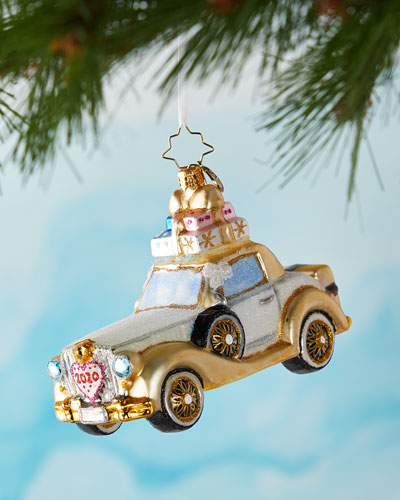 2020 Wedding Bliss Chariot Christmas Ornament