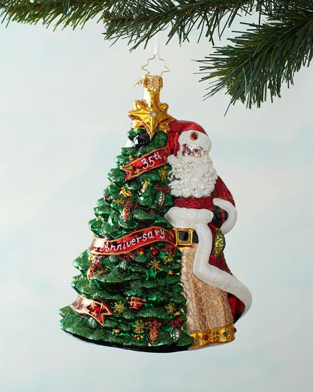 Christopher Radko Cheers To 35 Years! Christmas Ornament