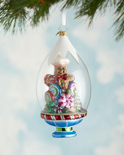 Gingerbread On Display Christmas Ornament