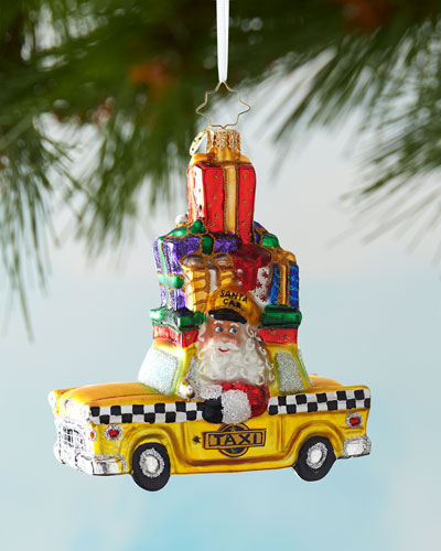 Hailing A Holiday Cab Ornament