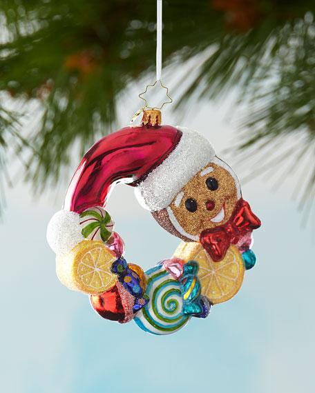 Christopher Radko Swirling Sweet Wreath Christmas Ornament