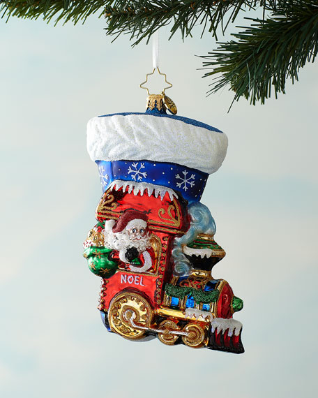 Christopher Radko Noel Express Stocking Christmas Ornament