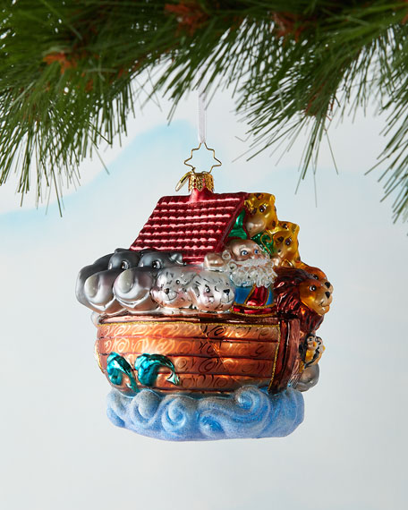 Boarding Two By Two Christmas Ornament