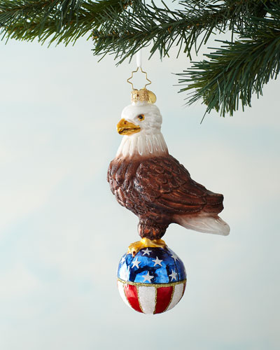 Stars And Stripes Bald Eagle Christmas Ornament