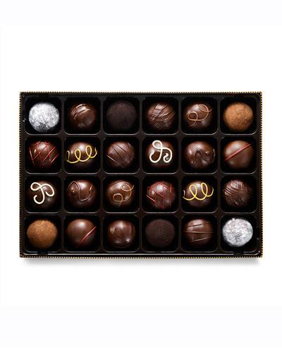 24-Piece Dark Chocolate Truffle Gift Box