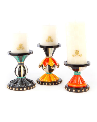 Autumn Spice Pillar Candleholders  Set of 3