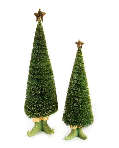 Dash Away Sisal Elf Tree Figures  Set of 2