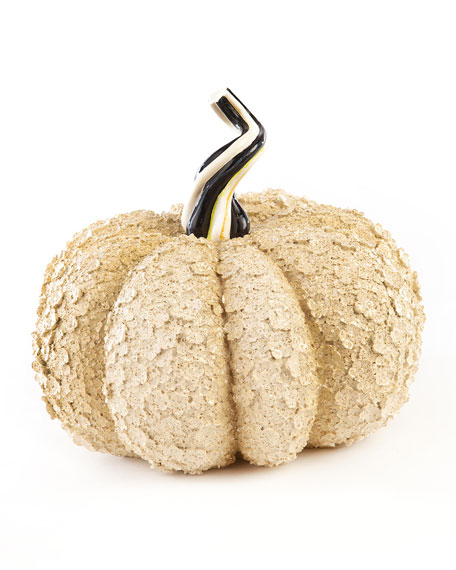 MacKenzie-Childs Autumn Harvest Pumpkin, Ivory