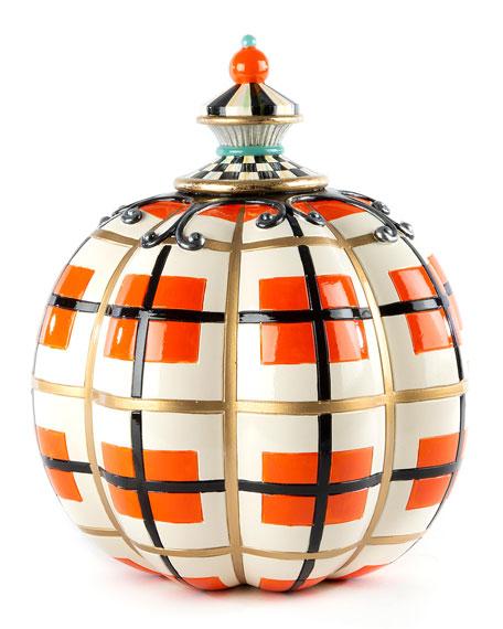 Tartan Spice Pumpkin, Orange Plaid