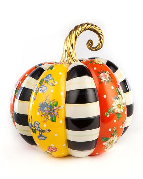 MacKenzie-Childs Flower Market Patchwork Pumpkin, Medium