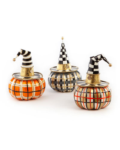Autumn Spice Capiz Pumpkins  Set of 3
