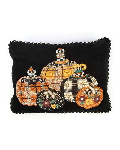 Tartan Spice Pumpkin Patch Lumbar Pillow