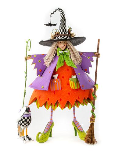 Raggedy Witch Figure
