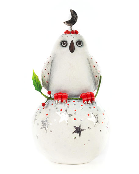 Patience Brewster Dash Away Nova Arctic Owl Ornament