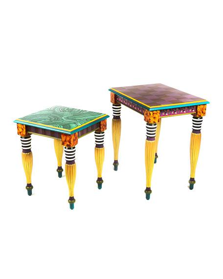 MacKenzie-Childs Paradise Nesting Tables, Set of 2