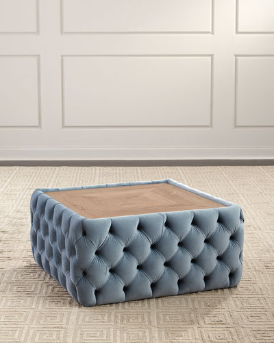 Cody Stone Top Tufted Ottoman