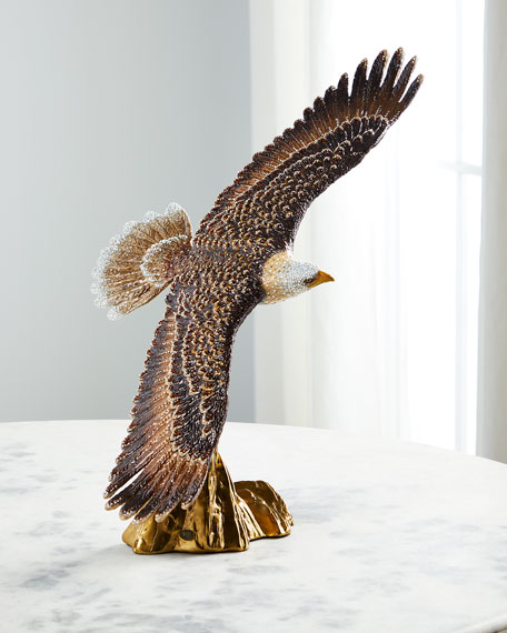 Jay Strongwater 25th Anniversary Soaring Eagle Figurine