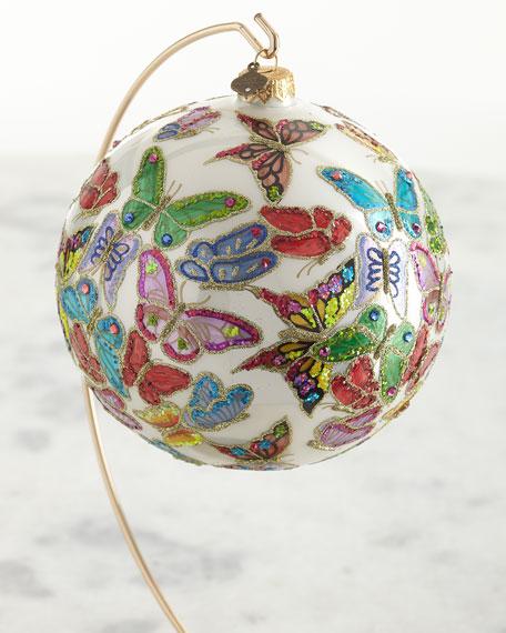 2020 Opulent Butterflies Glass Ornament