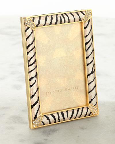 Zebra Striped Pave Corner Frame  4 x 6