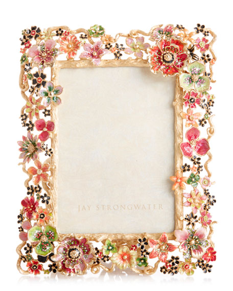 Jay Strongwater Cluster Floral Frame, 5