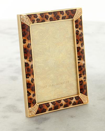 Leopard Spotted Pave Corner Frame  4 x 6