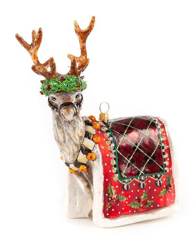 Glass Ornament  Aberdeen Reindeer