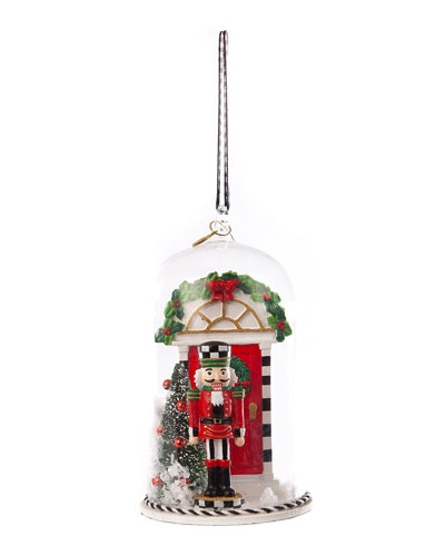 Happy Holiday Nutcracker Cloche Ornament