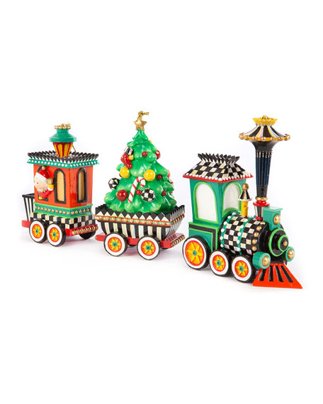 Christmas Train Ornament -  Set Of 3