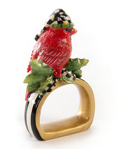 Night Cap Cardinal Napkin Ring