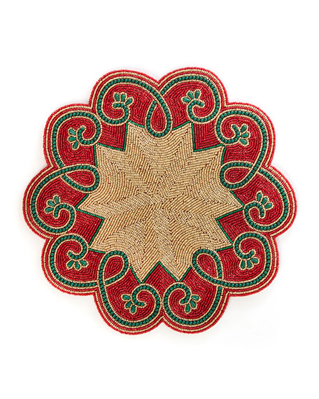 Arabesque Placemat - Red And Gold