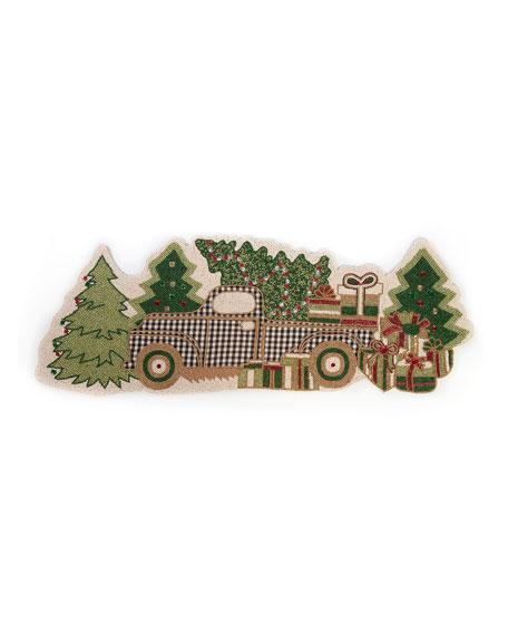 Holiday Farm Truck Table Runner
