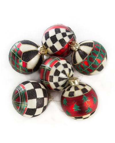 Tartan Ball Ornaments - Set Of 6