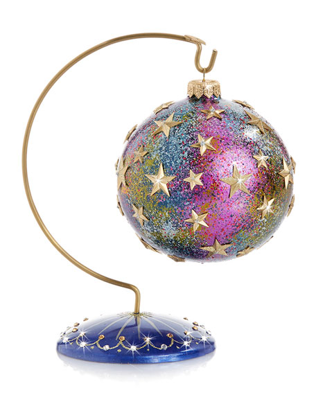 Star Night Star Bright Glass Ornament with Stand