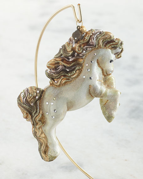 Jay Strongwater Galloping Horse Glass Ornament