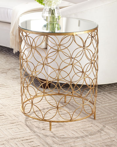 Sherry Mirror Top Side Table
