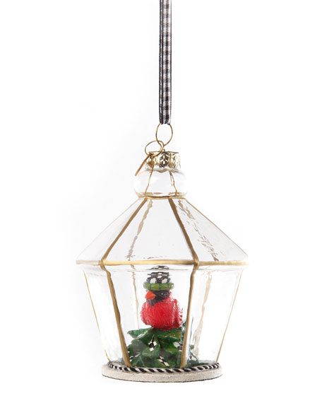 Happy Holiday Cardinal Cloche Ornament