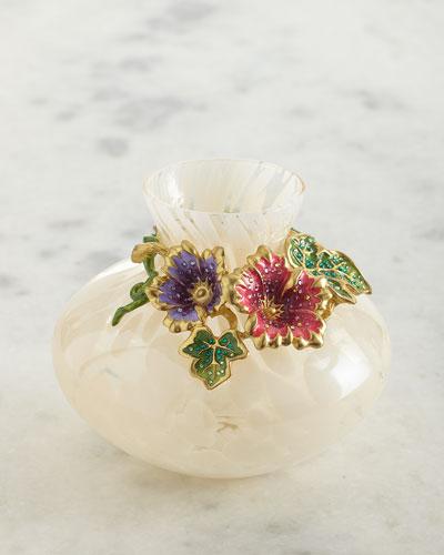Leaf and Flower Vase