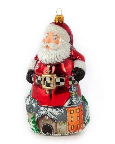 Glass Ornament  Aurora Village Santa