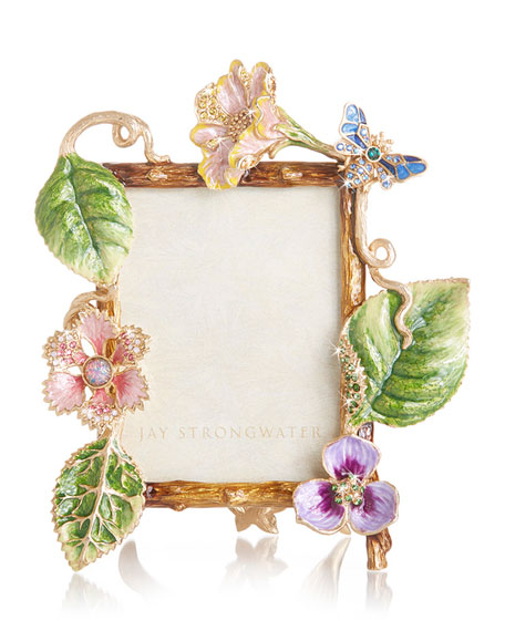Jay Strongwater Dutch Floral Frame, 3