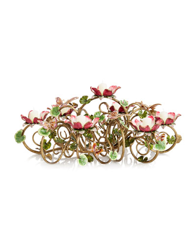 Floral & Butterfly Candelabra