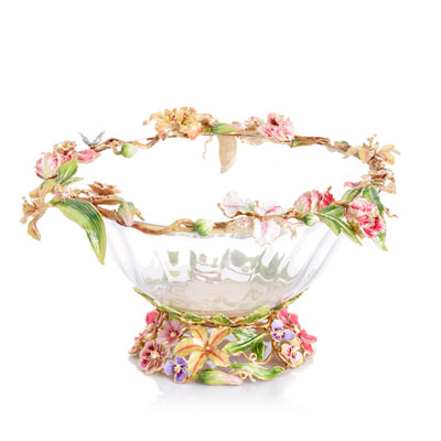 Dutch Floral Glass Bowl