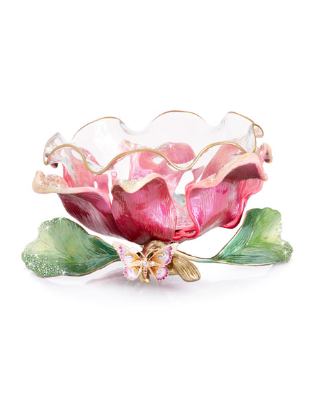 Jay Strongwater Large Flower Bowl