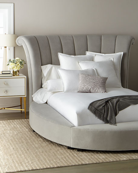 Katya Silver King Bed