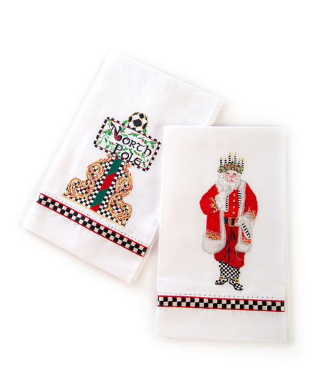 MacKenzie-Childs Santa Lucia Guest Towels, Set Of 2