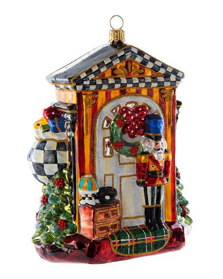 Glass Ornament - Knock Knock Santa