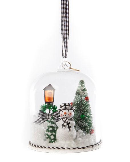 Happy Holiday Snowman Cloche Ornament
